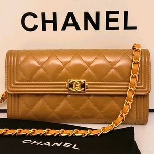 Chanel Le Boy Patent Flap Crossbody Purse WOC